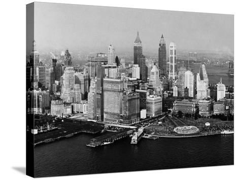 Battery Park, New York City, New York, 1954--Stretched Canvas Print