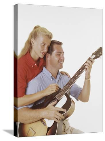 Couple with Guitar-Dennis Hallinan-Stretched Canvas Print