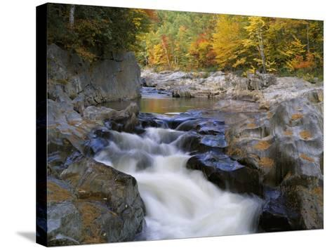 Water Flows over Rocks in the Swift River-Jeff Foott-Stretched Canvas Print