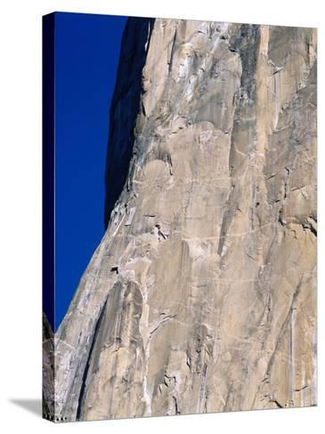 Rock Climbers Scale El Capitan-Jeff Foott-Stretched Canvas Print
