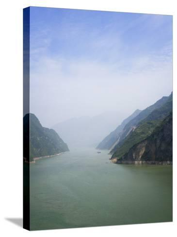 China, Yangtze River, Three Gorges, Landscape of Xiling Gorge-Keren Su-Stretched Canvas Print