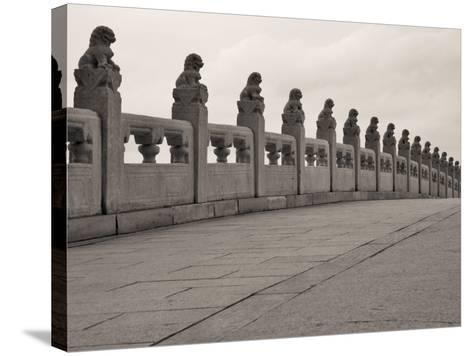 China, Beijing, Stone Bridge on Kunming Lake in the Summer Palace-Keren Su-Stretched Canvas Print