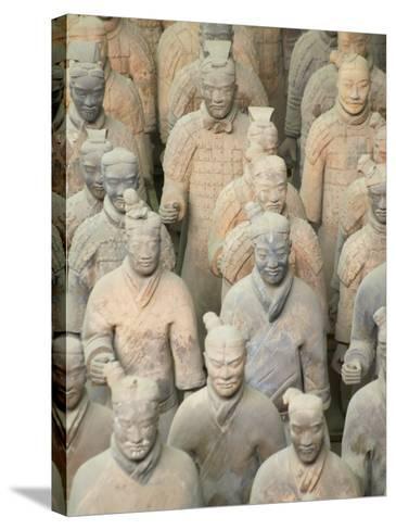 China, Shaanxi Province, Xian, Terra Cotta Warriors in Emperor Qinshihuangdi's Tomb-Keren Su-Stretched Canvas Print