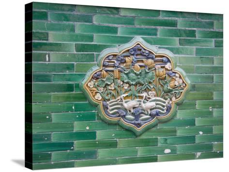 China, Beijing, Forbidden City, Architectural Details on the Wall Made of Glazed Bricks-Keren Su-Stretched Canvas Print