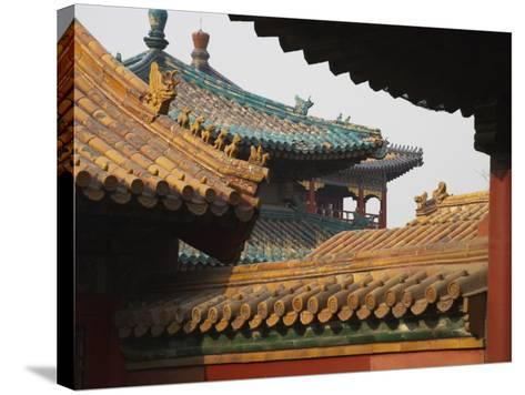 China, Beijing, Forbidden City, Traditional Architecture-Keren Su-Stretched Canvas Print