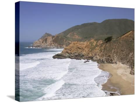 California, Half Moon Bay, Even on a Clear, Sunny Day, Devil's Slide Is a Tough Stretch of Road--Stretched Canvas Print