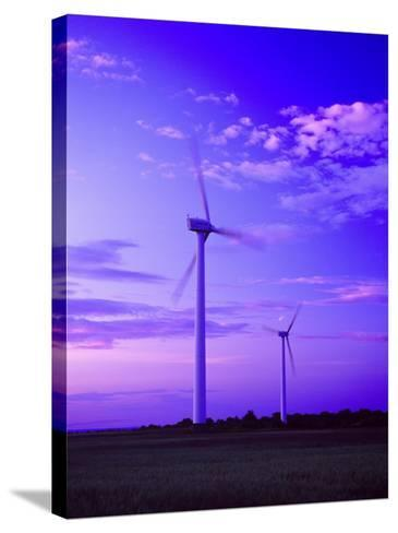 Wind Farm at Dusk, Oland, Sweden--Stretched Canvas Print