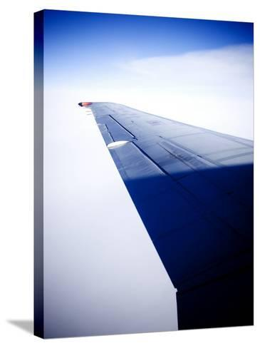 An Airplane Wing--Stretched Canvas Print