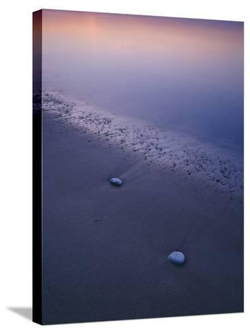 Stones on a Beach--Stretched Canvas Print