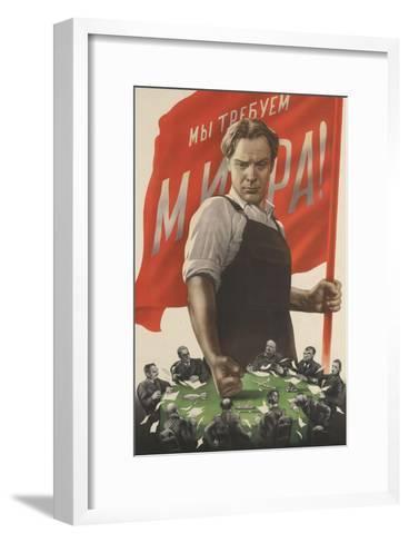 """Nous exigeons la paix""--Framed Art Print"