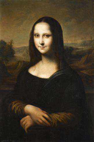 Copie de la Joconde de Leonard de Vinci-L?onard de Vinci-Stretched Canvas Print