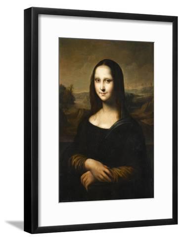 Copie de la Joconde de Leonard de Vinci-L?onard de Vinci-Framed Art Print