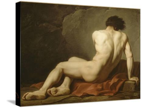 Acad?mie d'Homme dite Patrocle-Jacques-Louis David-Stretched Canvas Print