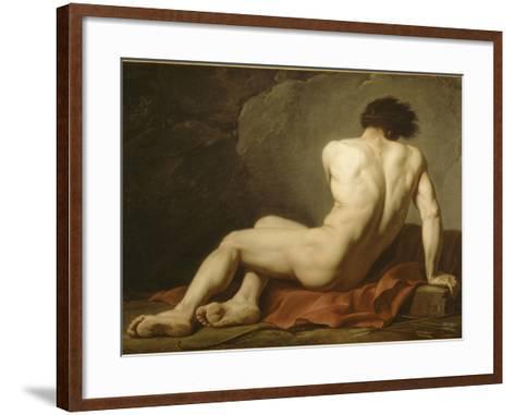 Acad?mie d'Homme dite Patrocle-Jacques-Louis David-Framed Art Print