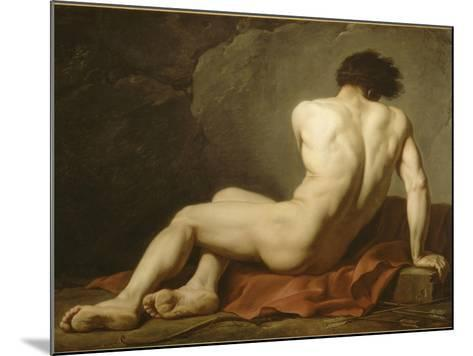 Acad?mie d'Homme dite Patrocle-Jacques-Louis David-Mounted Giclee Print