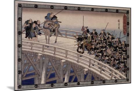 Acte XI, attaque nocturne, 4 : la retraite-Ando Hiroshige-Mounted Giclee Print