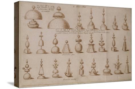 """Album """"décoration intérieure et jardins de Versailles""""--Stretched Canvas Print"""