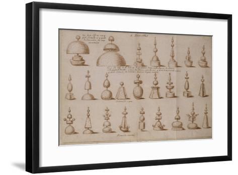 """Album """"décoration intérieure et jardins de Versailles""""--Framed Art Print"""