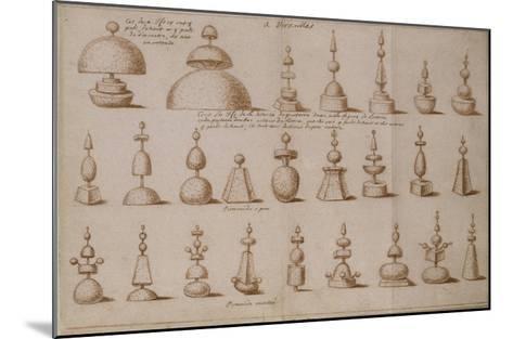 """Album """"décoration intérieure et jardins de Versailles""""--Mounted Giclee Print"""
