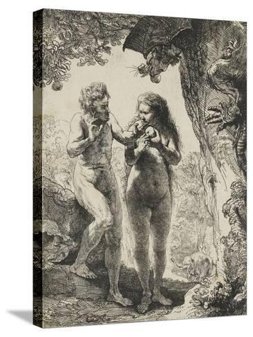 Adam et Eve-Rembrandt van Rijn-Stretched Canvas Print