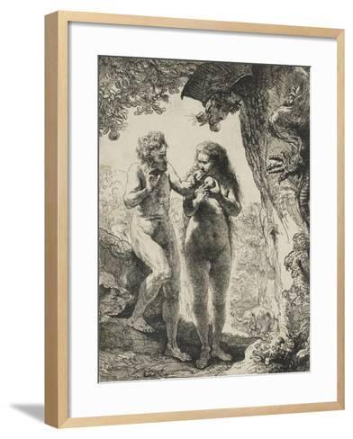 Adam et Eve-Rembrandt van Rijn-Framed Art Print