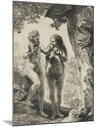 Adam et Eve-Rembrandt van Rijn-Mounted Giclee Print