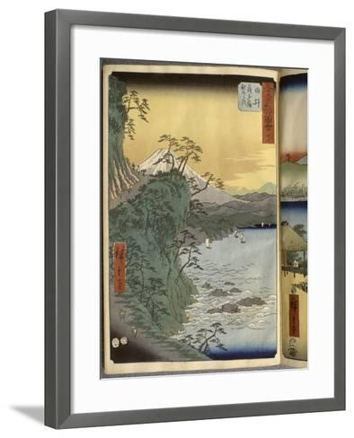 Album de la série des Cinquante-trois relais du Tôkaidô-Ando Hiroshige-Framed Art Print