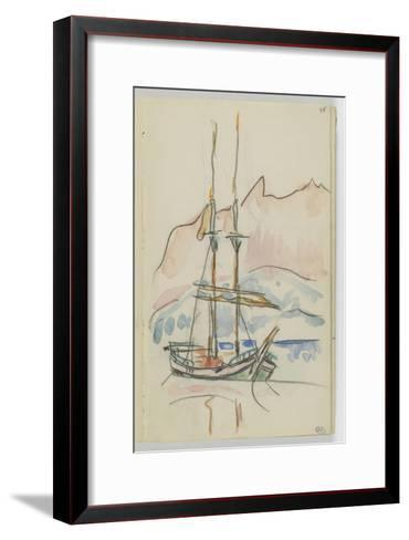 Album : bateau à deux mâts-Paul Signac-Framed Art Print