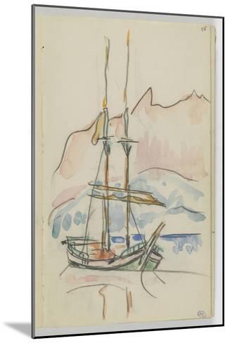 Album : bateau à deux mâts-Paul Signac-Mounted Giclee Print