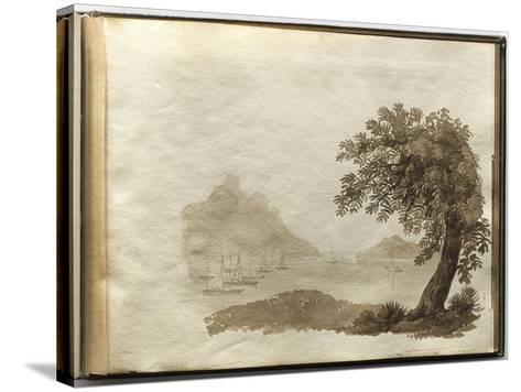 Album of Drawings Charlotte Napoleon: View of a Lake--Stretched Canvas Print