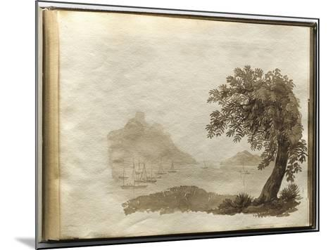 Album of Drawings Charlotte Napoleon: View of a Lake--Mounted Giclee Print