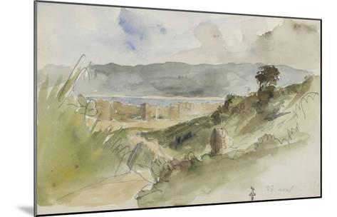 Album de voyage au Maroc, Espagne, Algérie-Eugene Delacroix-Mounted Giclee Print
