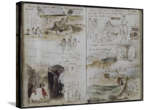 Album d'Afrique du Nord et d'Espagne-Eugene Delacroix-Stretched Canvas Print