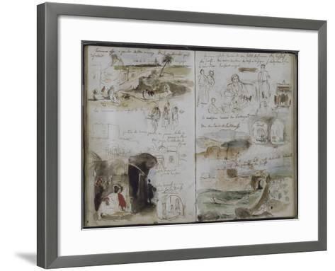 Album d'Afrique du Nord et d'Espagne-Eugene Delacroix-Framed Art Print