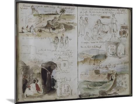 Album d'Afrique du Nord et d'Espagne-Eugene Delacroix-Mounted Giclee Print