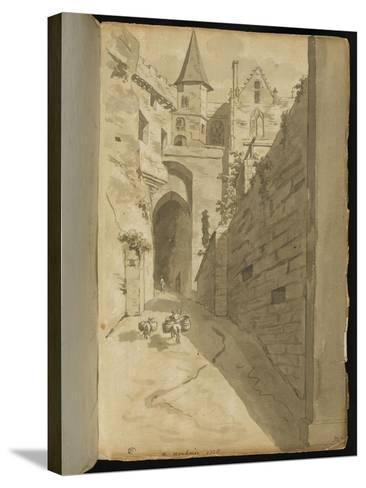 Album : Rue avec diverses architectures-Pierre Henri de Valenciennes-Stretched Canvas Print