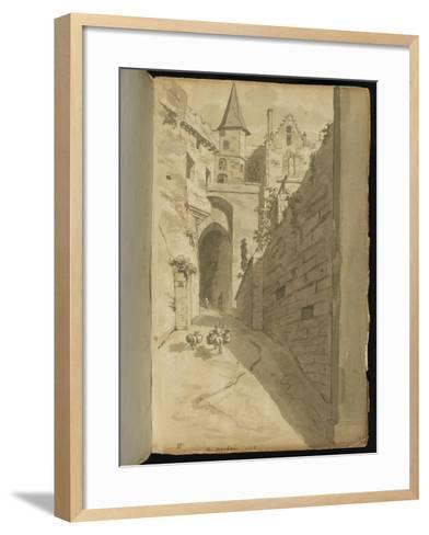 Album : Rue avec diverses architectures-Pierre Henri de Valenciennes-Framed Art Print
