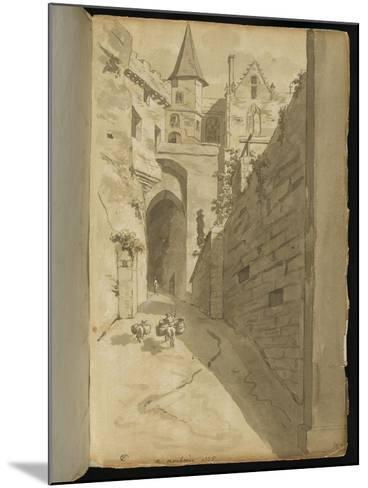 Album : Rue avec diverses architectures-Pierre Henri de Valenciennes-Mounted Giclee Print