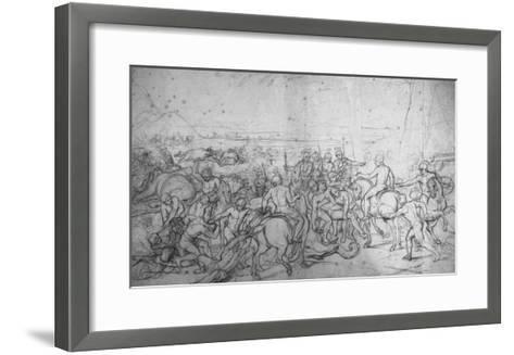 Alexandre et Porus ou La Défaite de Porus-Charles Le Brun-Framed Art Print