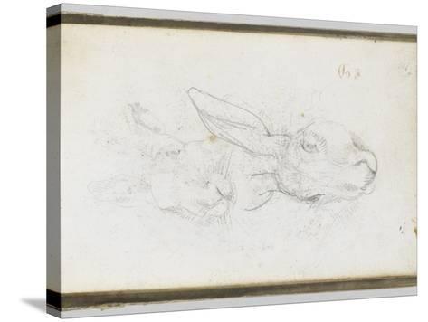 Album : Deux t�s de li�e-Eugene Delacroix-Stretched Canvas Print