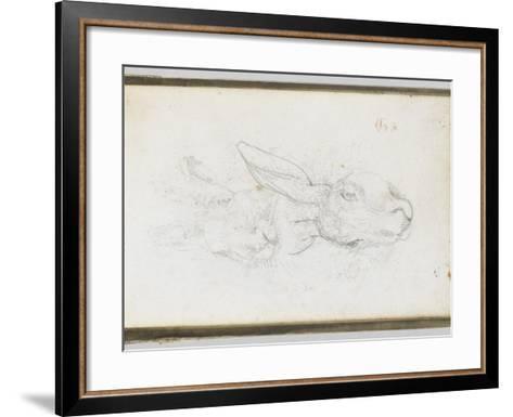 Album : Deux t�s de li�e-Eugene Delacroix-Framed Art Print