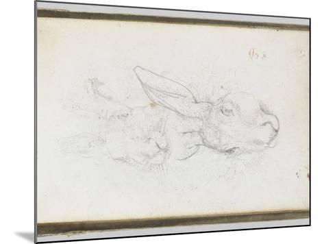 Album : Deux t�s de li�e-Eugene Delacroix-Mounted Giclee Print