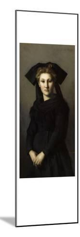 L'Alsace. Elle attend-Jean Jacques Henner-Mounted Giclee Print