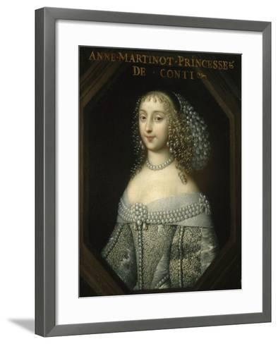Anne-Marie Martinozzi, Princess of Conti (1637-1672)--Framed Art Print