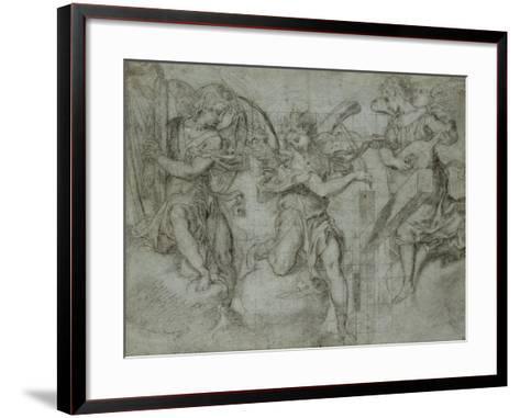 Anges musiciens-Andrea Lilio-Framed Art Print