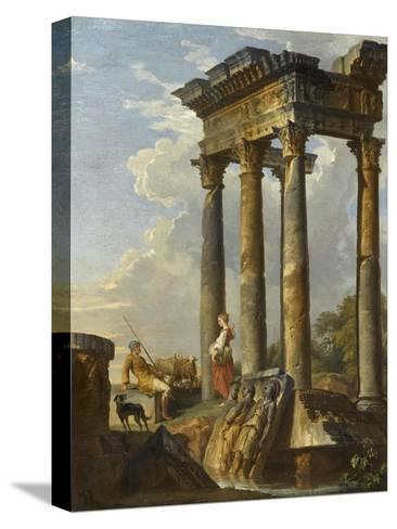 Ruines antiques-Giovanni Paolo Pannini-Stretched Canvas Print