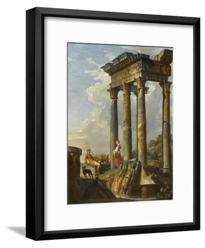 Ruines antiques-Giovanni Paolo Pannini-Framed Art Print