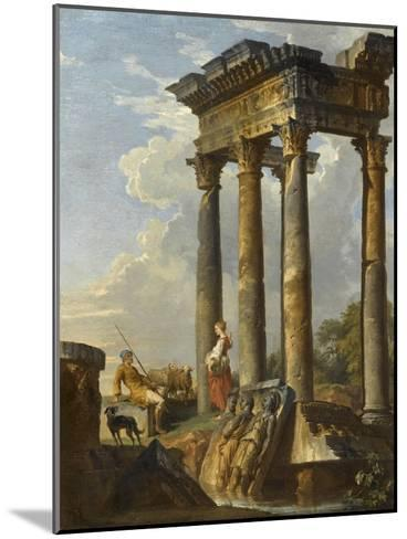 Ruines antiques-Giovanni Paolo Pannini-Mounted Giclee Print