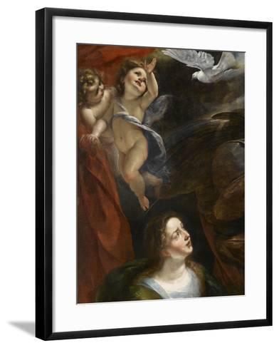 L'Annonciation-Giulio Cesare Procaccini-Framed Art Print