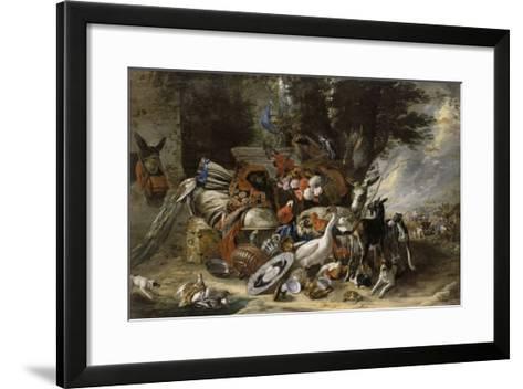 Animals and Utensils Said Jacob Depart for Mesopotamia-Pieter Boel-Framed Art Print